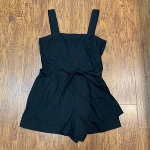 GAP black romper shorts with tie belt size 16